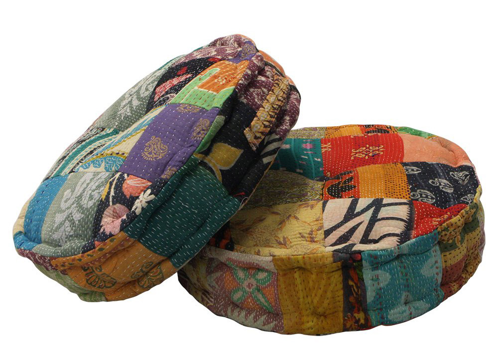 Kantha Meditation Cushions